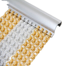 anodized aluminum double chain link curtain mesh fly screen hook chain insect mesh price