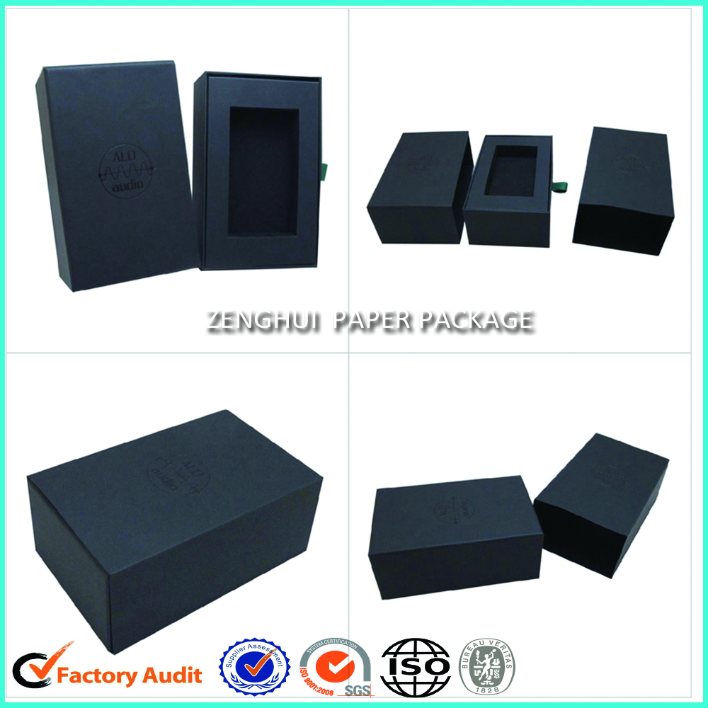 Cheap Rigid Black Drawer Paper Box