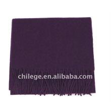 Man's Wool and Cashmere Plain Purple Scarfs