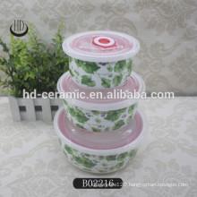 3pcs ceramic bowl set seal fresh bowl set
