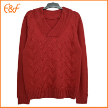 Heavy Gauge Cable Knit Sweater for Men