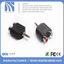 3.5mm Stereo Male To 2X RCA Female Adapter