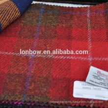 Red plaid harris tweed coat fabric fresh order