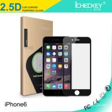 En stock ! Protector de cristal moderado huella digital anti de la pantalla de la cubierta completa 2.5D 0.33mm para el iPhone 6