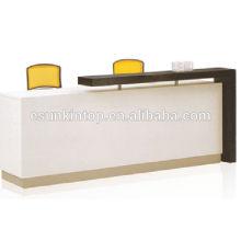 Mobiliário de escritórios de recepção de alta classe, mesa de madeira para tamanho personalizado (KM926)
