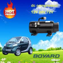 Автомобиль кондиционирования части boyang электродвигатель компрессор r134 12v для кондиционирования воздуха для электрических автомобилей прицепа грузовик