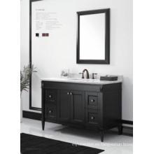 Gabinete de baño moderno reflejado gabinete principal de madera uno (JN-8819715C)