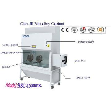 Cabinet de biosécurité de classe III (BSC-1500IIIX)