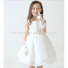 Vestidos de mulher de flor de alta qualidade para casamentos Festa sem mangas Tutu Girl Vestidos de verão para crianças