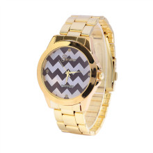 New Cheap Ladies Fashion Gold Metal Watch