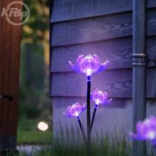 Luces de flores de jardín al aire libre