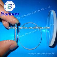 Lentille convexe concave en verre BK7 (lentille ménisque)