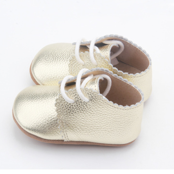 Venta al por mayor Lacework Baby Unisex Oxford Shoes