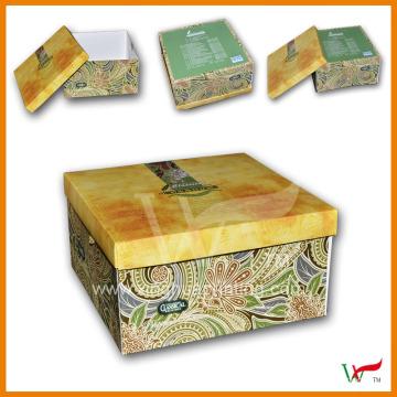 Folding Shoe Box Custom Printed Corrugated Paper Packaging Box