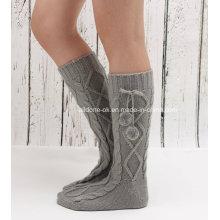 Производство фабрики Дешевые оптовые пользовательские трикотажные носки для обуви Флис Welly