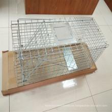 Trampa de acero plegable para animales trampa de jaula Fox