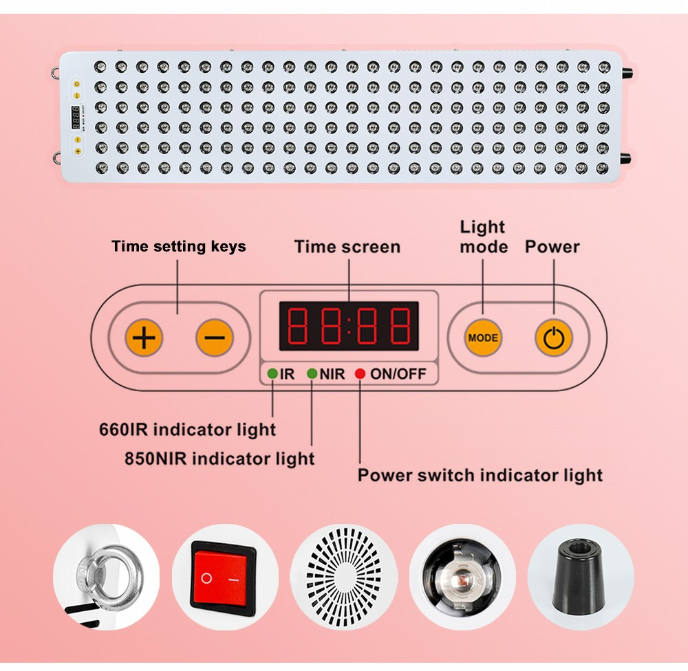 Red Infrared Light Therapy Device For Skincare