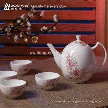 Blumen-Malerei Antike klassische chinesische Tee-Schalen-Satz, Förderung-Tee-Schalen-Satz