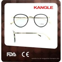 Runde Form 2017 kombinieren Bügel Eyewear optische Rahmen Eyeglasses