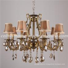Lámpara de cristal del hierro del diseño de lujo con la cortina de la tela (SL2116-8)