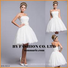 Porzellan nach Maß Hochzeitskleid kurzes Hochzeitskleid BYB-R014