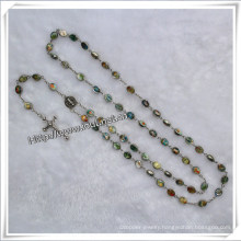 Alloy Rosary, All Carved Alloy Beads Rosary (Io-Cr023)
