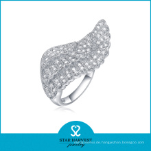 Design-Winkelflügel Sterling Silber Ring Großhändler (SH-R0052)