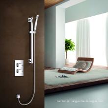 Alta qualidade, duas alças, válvula de válvula termostática distrital, conjunto de chuveiro com chuveiro de telefone