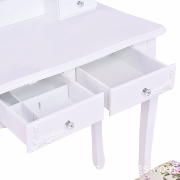 European white dresser table set mirror dresser makeup table