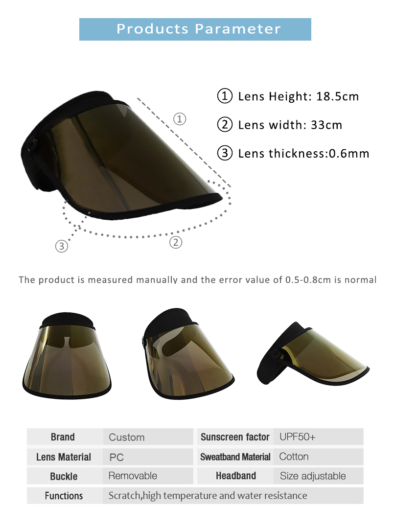 Gold Sun Visor Uv Protection