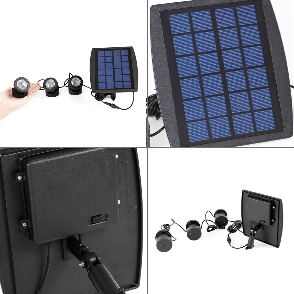 Solar led underwater light
