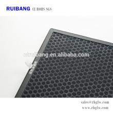 filtro de ar de carvão ativado de remoção de odor de alta eficiência
