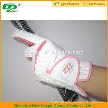 Guantes de golf 100% piel de oveja rosa para mujer