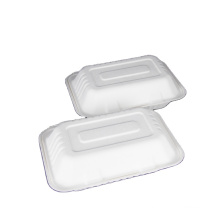 Eco-friendly sugar cane bagasse paper containers take away lunch salad disposable biodegradable food packaging