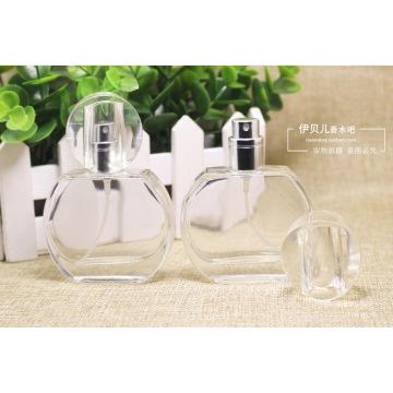Botellas de cristal de perfume de cristal redondo para botellas de fragancia