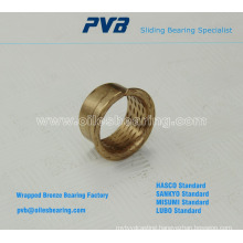 Base on PRMF standard Wrapped bronze flanged bushings, Sintered bronze bearing