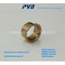 Основание на стандарте PRMF Обернутые бронзовые фланцевые втулки, Спеченный бронзовый подшипник