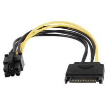 Cable personalizado SATA de 15 pines a 6 pines PCI-E