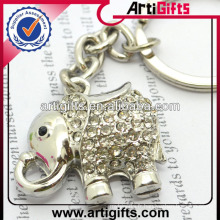 Porte-clés en métal animal strass Fashion