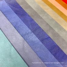 Faux cuir synthétique texturé PU pour produit électronique