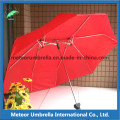 Easy Take Foldable Compact Lover Umbrella avec Polyester Pongee Fabric Canopy