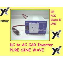 Выход 110 В переменного тока с США выходе 200Вт инвертор 50/60 Гц, выбирается переключателем