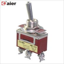 12MM 15A 250V SPDT 3Pin ON ON 2-Way KN3 Interruptor de palanca de un solo poste