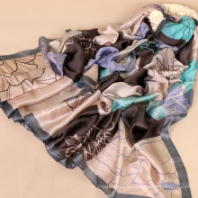 China-Frauen lange Schal Cashew, der pakistanische Art und Weise silk Hijabs der Ebene druckt