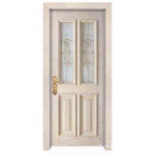European Simple Classic Design with Glass Window Solid Wooden Door