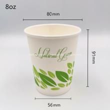 Tasses d'ondulation de café jetables compostables certifiées PLA 8oz