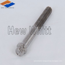 high strengh Gr5 titanium 12 point flange bolt