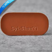 Étiquette jaune en cuir de conception de la plus haute qualité pour des sacs