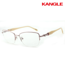2017 the hot stainless steel fashion glasses design optical eye glass frames for women