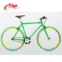 heißer Verkauf des Großverkaufs örtlich festgelegtes Zahnradbike / hochwertiger Stahlfestgelegter Fahrradrahmen / Yimei buntes 700c örtlich festgelegtes Zahnrad Fahrrad für Verkauf